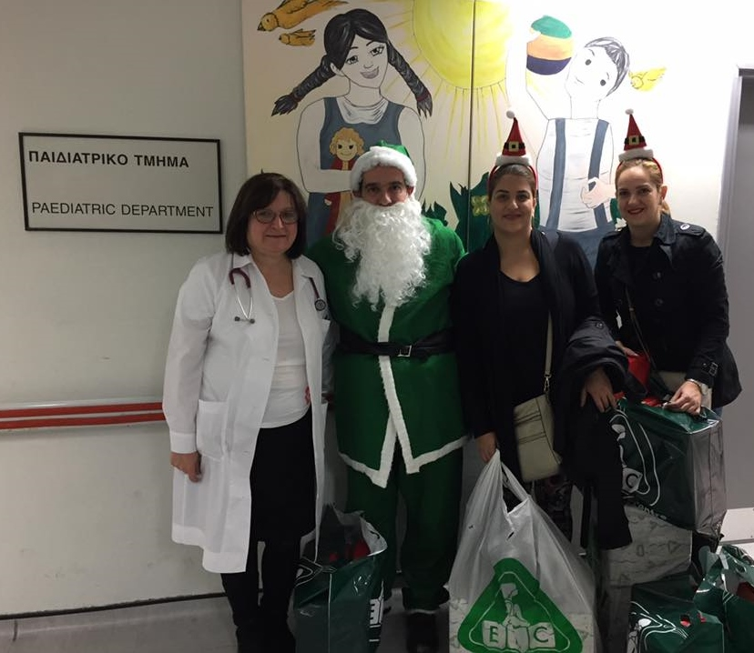 Christmas Gifts to Children at Limassol and Makarios Hospitals